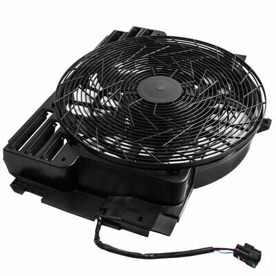 Condenser Thermo Fan for BMW E53 X5 00-06 5 Blades With Module + Brushless Motor