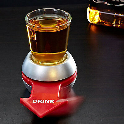 Spinner Spin The Shot Glass Set Adult Drinking Game Fun Party Craft Gift 50ml