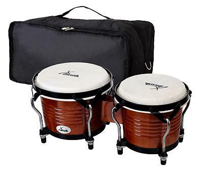 Set Bongos Instrument Percussion Batterie De Main Tambour Sac Couleur Tabac Pro