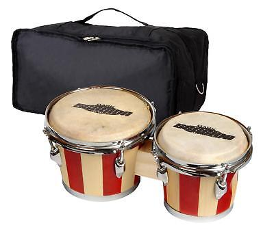 Set Bongos Instrument Percussion Batterie De Main Tambour Poche Retro Design
