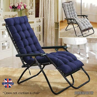 Replacement Outdoor Sun Lounger Topper Garden Cushion Thick Padded Chair Comfort