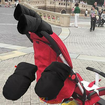 Baby Stroller Buggy Pram Winter Warm Fleece Gloves Handle Windproof Anti-freeze
