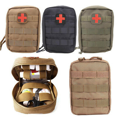Emergency Tactical First Aid Kit Carry Molle Bag Pouch Camp Car Survival Travel