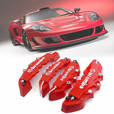 3D Red 4PCS Brembo Style Car Universal Disc Brake Caliper Covers Front & Rear US