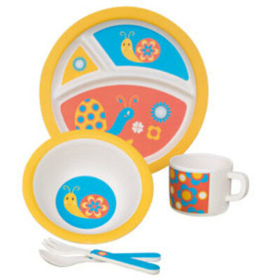 Eco-Friendly Snail: Kids' 5-Piece Dinner Set