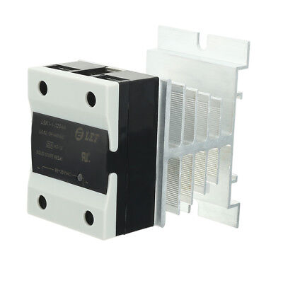 25A AC/AC 90-250V to 24-440V SSR Thermal Compound Solid State Relay + Heat Sink
