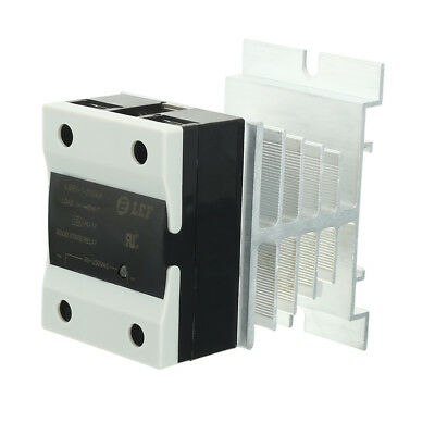 10A AC to AC 90-250V to 24-440V Thermal Compound Solid State Relay + Heat Sink