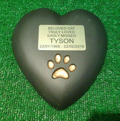 cat Large Pet Memorial/headstone/stone/grave marker/memorial heart with plaque