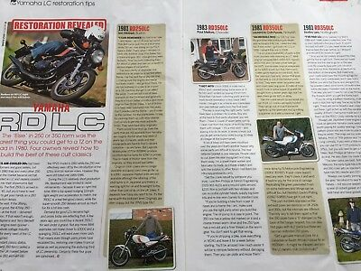 Yamaha Rd Lc - Original 2 Page Restoration Tips Motorcycle Article