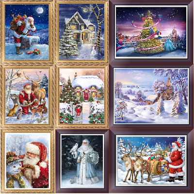Christmas Seires DIY 5D Diamond Embroidery Painting Cross Stitch Craft Home Deco