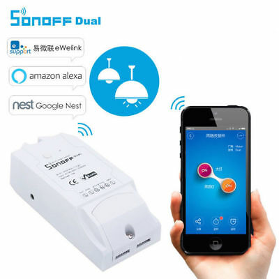 Sonoff Dual 2CH Wifi Wireless Smart Home Switch Module Remote Control Universal