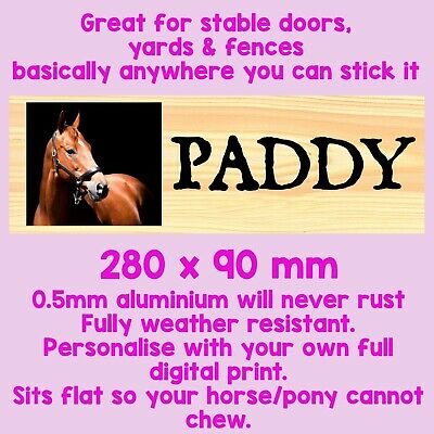 Personalised Stable Metal Sign Tin Horse Plaque Brush Yard Sign