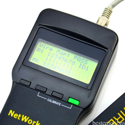 Hot Network LAN Length Telephone Cable Tester Meter Measure Tool Using Easily