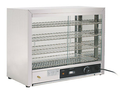 Commercial Heated Food Warmer Cabinet For Pies Pasties Sausage Rolls Uk Plug