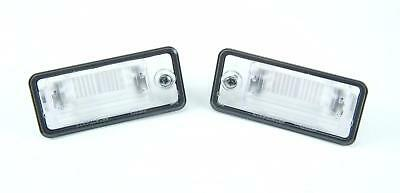 GENUINE OEM License Plate Light Lenses Pair Audi A3 A4 A5 A6 C6 A8 D3 Q7 RS4 01-