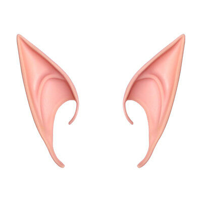 Latex Pointy Elf Fairy Pixie Cosplay Hook On Fancy Dress Ears Costume Accessory