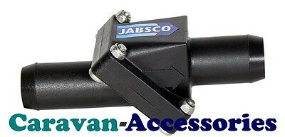 "JABSCO In-Line Non-Return Valve Water System 19mm 3/4"" Stops Backflow Into Pump"