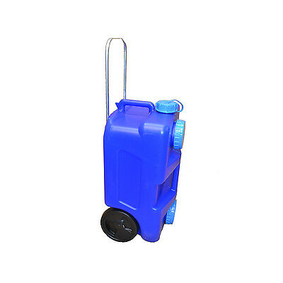 Water Tank Portable 25L On Wheels Fresh/Waste Canister Camping Caravan Storage