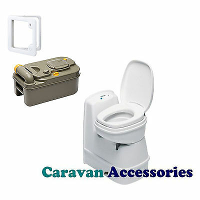 THETFORD C200 CS Cassette Toilet Direct Electric Flush + Door 3 - Swivel Bowl