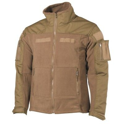 MFH Fleece Jacke Combat mit Klett US Army Bundeswehr Outdoorjacke coyote tan