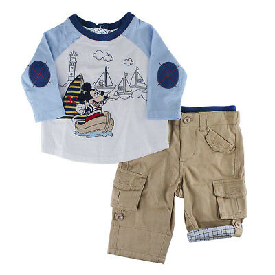 Disney Store Mickey Mouse Woven Top and Pants Set for Baby