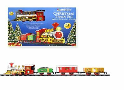 The Christmas Workshop Battery Operated Christmas Train Set with Light and Sound