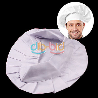Elastic White Chef Hat Baker BBQ Kitchen Cooking Hat Costume Cap One Size TOP