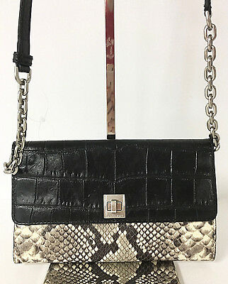 e3bc996239143d Michael Kors - Natalie Natural Xl Wallet On A Chain Embossed Bag, Retail  $268