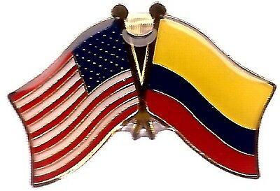 LOT OF 3 Colombian Friendship Flag Lapel Pins - Colombia Flag Pin