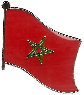 LOT OF 3 Morocco Flag Lapel Pins - Moroccan Flag Pin