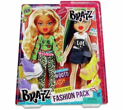 MGA Bratz Dolls Raya & Jade Deluxe Fashion Pack 2 Outfits 2 Shoes NEW