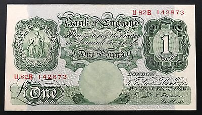 1953 Bank Of England P.s.beale £1 One Pound Note