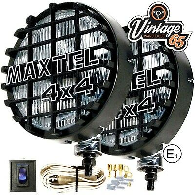 Pair Of Maxtel 12V 160Mm Stainless Steel Round Spot/Bar Lamps/Lights Truck
