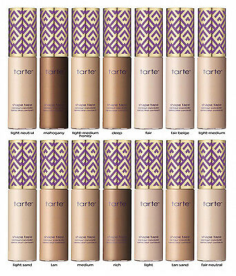 2017 Tarte Concealer, Tarte Shape Tape Contour Concealer 10ml - Different Shades