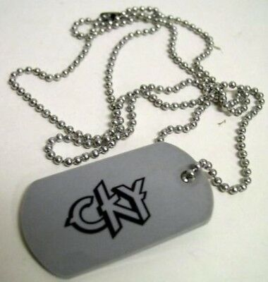 CKY 2005 promotional rubber dog tag knecklace Bam Margera New Old Stock
