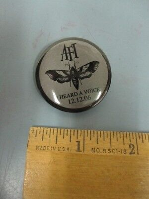 AFI 2006 I HEARD A VOICE original promotional pinback button badge New Old Stock
