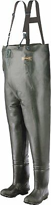 Ranger Bluecat Heavy-Duty Men's Chest Waders, Olive/Yellow & Black, A2070