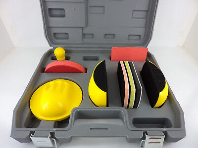 7 Piece Car Body Repair Hook Loop Hand Sanding Block Kit FMT5530 Fast Mover