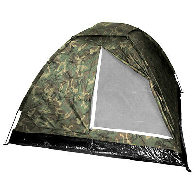 MFH Large 3 Person Monodom Tent Camping Airsoft Fishing Festival Woodland Camo