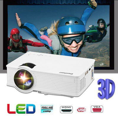 UC46+ WLAN WIFI 3D HD 1080P Projektor Heimkino Beamer Projector for Iphone Handy
