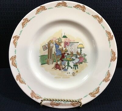 Royal Doulton Bunnykins Spring Cleaning 8 Inch Luncheon Plate Made In England