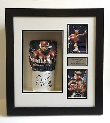 FRAME DISPLAY CASE FOR SIGNED BOXING GLOVE-4x6 PHOTO HOLES & FREE METAL PLAQUE