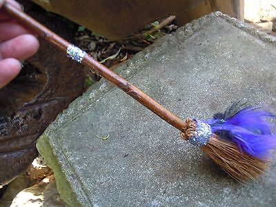 Witches Mini broom Besom Altar spells spell supplies Pagan Witchcraft feather