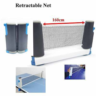 Retractable Table tennis Net Travel Holiday Portable Replacement Quality