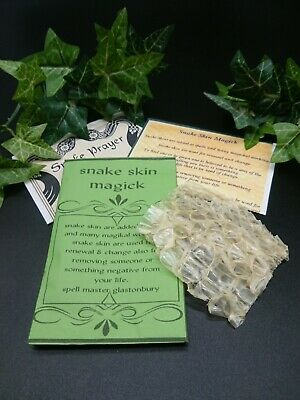 Snake skin Spell Supplies spells magic ritual protection Witchcraft Occult