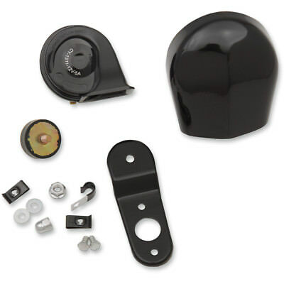 Drag Specialties Black Electric Horn Kit Harley Touring Softail Dyna Sportster