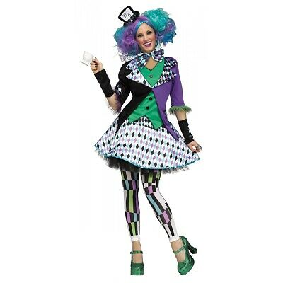 Mad Hatter Costume Adult Female Halloween Fancy Dress