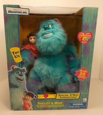 New Sealed Monsters Inc Sulley & Boo Electronic Talking Interactive Toys Pixar