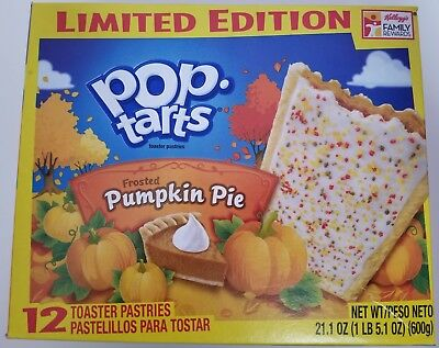 NEW Pop Tarts Toaster Pastries Frosted Pumpkin Pie 12 Count Limited Edition
