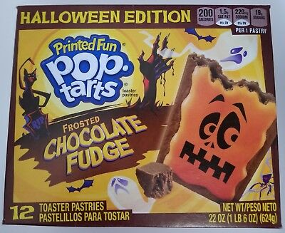 NEW Pop Tarts Toaster Pastries Frosted Chocolate Fudge 12 Count Halloween Editio